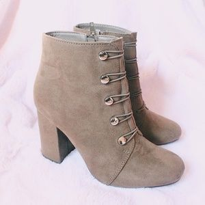 Olive Green Ankle Bootie